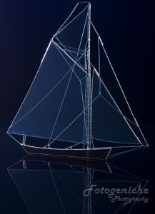 Sailing ship glass