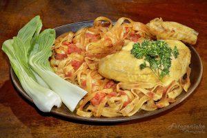 Chicken-Pasta-Pak Choi