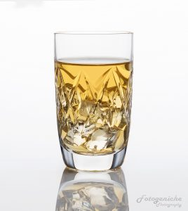 Cut Glass Whisky with ice
