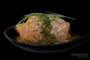 Macro Shot of Spoon_Smoked Salmon _Dill Vinaigrette
