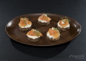Smoked Salmon Canapes with Dill