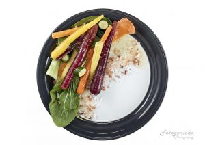 Styling Vegetables on plate